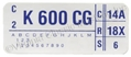 73 351-2V ENGINE CODE DECAL  K600CG