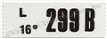 69 BOSS 302 ENGINE CODE DECAL  299B