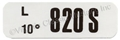 69 BOSS 429 ENGINE CODE DECAL  820S