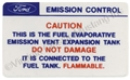70 CALIF EMISSION CONTROL DECAL