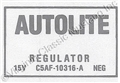65-66 VOLTAGE REGULATOR DECAL NO AIR