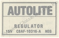 68-70 VOLTAGE REGULATOR DECAL NO AIR