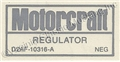 72 NO AIR VOLTAGE REGULATOR DECAL
