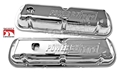 1968-72 EXACT CHROME VALVE COVERS-PAIR STAMPED WITH POWER BY FORD-FIT 302, 351W