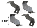 65-66 FAN SHROUD BRACKETS FOR THICK 3 ROW RADIATOR-SET OF 4