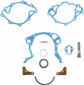 Small Block V8 Timing Chain Cover Gasket Set with Crank Repair Sleeve