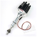 "FLAME-THROWER  BILLET ALUMINUM DISTRIBUTOR 260, 289, 302-HAS IGNITOR II MODULE NON-VACUUM-USE W/14"" OR SMALLER AIR CLEANER"