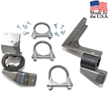 EXHAUST HANGER KIT FOR 67 SINGLE EXHAUST 6 CYLINDER MANUAL TRANSMISSION- 1 3/4""