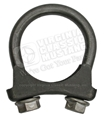 "TAIL PIPE EXTENSION/TIP CLAMP USE ON DUAL EXHAUST SYSTEMS-EXACT HORSESHOE STYLE-USE WITH 1 3/4""-2"" ORIGINAL TYPE TIPS"