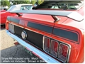 70 BLACK MACH 1 TRUNK STRIPE KIT