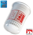 65 FUEL PUMP FILTER CANISTER CORRECT WHITE WITH RED SILKSCREEN