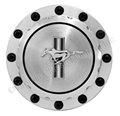 65-73 BILLET ALUMINUM GAS CAP WITH RUNNING HORSE EMBLEM
