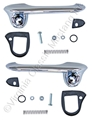 67-68 CHROME OUTSIDE DOOR HANDLE KIT -SHOW QUALITY
