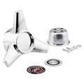 Knock-Off Style Center Cap Spinner for One Piece Aluminum Legendary Wheels