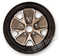 66 BLACK RIM STYLED STEEL WHEEL-14 X 5 (STOCK SIZE)