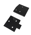 65-66 Mustang Door Hinge Mounting Plates Upper and Lower Plates for one side