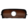 69-70 RH Dash Panel Bezel - Deluxe Woodgrain with Clock Hole
