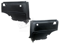 67-68 Mustang Fastback Rear Interior Quarter Trim Panels - Pair