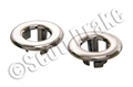 65-70 CHROME PLASTIC DOOR LOCK GROMMETS- PAIR