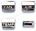 67 HEATER/AIR CONDITIONING CONTROL KNOB SET