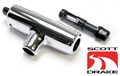 69-73 CHROME AUTO SHIFT T-HANDLE WITH BUTTONS