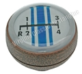 68-69 4 SPEED SHIFT KNOB-WOODGRAIN-BLUE STRIPE