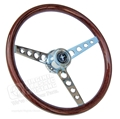65-67 Mustang GT Classic Wood Steering Wheel Assembly