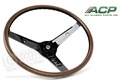 69 MUSTANG RIM BLOW WOODGRAIN STEERING WHEEL