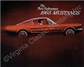 65 MUSTANG COLOR SALES BROCHURE