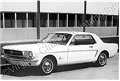 12 X 18 BLACK AND WHITE FACTORY PHOTO-HEAVY WEIGHT, HIGH GLOSS PAPER- OF 1965 MUSTANG COUPE