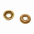 65-66 Radio Delete and Heater Delete Plate Mounting Nuts - Set of 2