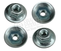 65-70 CORRECT STYLE MOUNTING NUTS FOR PARKING LIGHT, BACK-UP LIGHT, TAIL LIGHTS SET OF 4