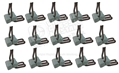 DELUXE DOOR PANEL/SEAT BACK CLIPS WITH FOAM -SET OF 15