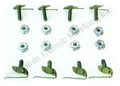 67-68 GRILL MOLDING CLIPS AND NUTS(8 OF EACH)