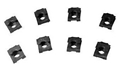 65-66 HEADLIGHT DOOR CLIP NUTS (8)