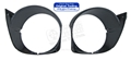 70 HEADLIGHT DOORS-BLACK PLASTIC-PAIR
