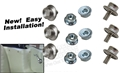 65-68 Mustang Convertible Quarter Trim Snaps with Nuts - Set of 6