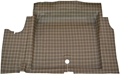 65-68 Mustang Fastback Molded Trunk Mat  - Plaid Design