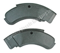 71-73 BLACK SEAT SIDE HINGE COVERS-PAIR (2 PAIRS REQUIRED PER CAR)