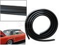 65-73 MUSTANG TWO PIECE PLASTIC CONVERTIBLE TOP REAR BOW TRIM - BLACK