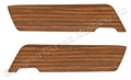 69-70 WOODGRAIN INSERTS ONLY FOR DELUXE DOOR PANELS-TEAK (LIGHT)-PAIR