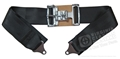 3 INCH RACE STYLE LAP SEAT BELT ASSEMBLY BLACK - ONE SEAT