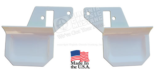 69-70 MUSTANG DELUXE INTERIOR DOOR HANDLE TRIM PLATES - PAIR - WHITE
