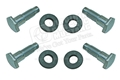 65-66 FRONT SEAT BELT BOLT AND WASHER SET- CONVERTIBLE (4 BOLTS AND 4 WASHERS)
