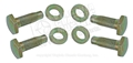 67-68 (BEFORE 2-29-68) REAR SEAT BELT BOLT SET (4 BOLTS AND 4 WASHERS)