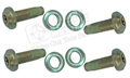 68-73 (AFTER 2-29-68) REAR SEAT BELT BOLT SET (4 BOLTS AND 4  WASHERS)