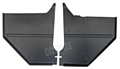 65-66 COUPE/FASTBACK KICK PANELS - PAIR BLACK - SHOW QUALITY 100% EXACT STYLE