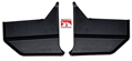 67-68 MUSTANG CONVERTIBLE KICK PANELS - PAIR - BLACK - SHOW QUALITY 100% EXACT STYLE
