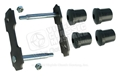 "66-73 REAR OF REAR LEAF SPRING SHACKLE KIT - 1 SIDE (1/2"" RODS) - OFFSET DUAL EXHAUST DESIGN"