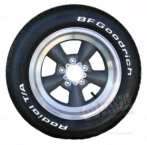 15 X 7 TORQ-THRUST D WHEEL/TIRE PACKAGE W/ 215/60 X 15 TIRES, CENTER CAPS, HB10 LUG NUTS